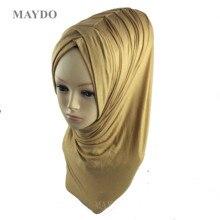 TJ29 1 אופנה פי המוסלמי חיג אב בגימור פשמינה מוסלמי צעיף