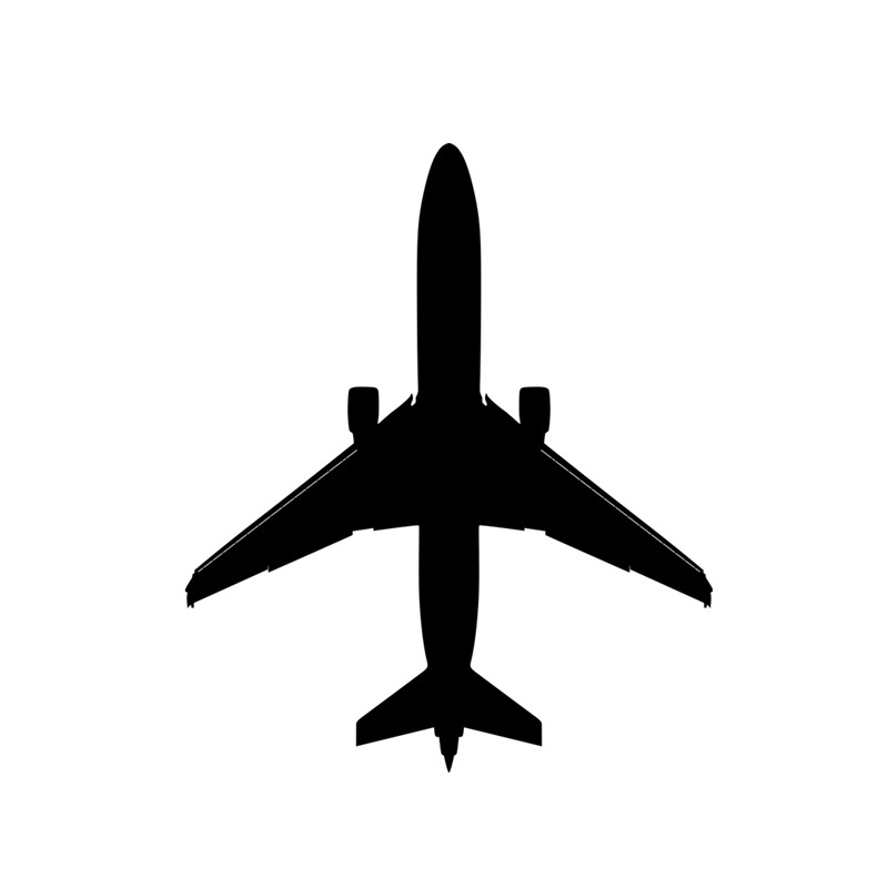 Airplane Aircraft Vinyl Cool Computer Sticker Decal