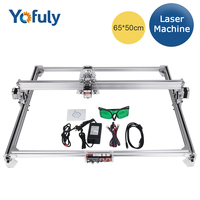 6550 CNC Laser Engraver 2 Axis 12V/10w High Power DIY Laser Engraving Machine Desktop Wood Router/Cutter Machine