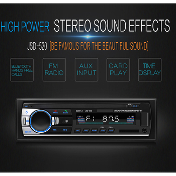 Vintage Car Bluetooth Radio MP3 Player Stereo USB AUX Classic Car Stereo Audio OLED Color Screen Car Electronic image