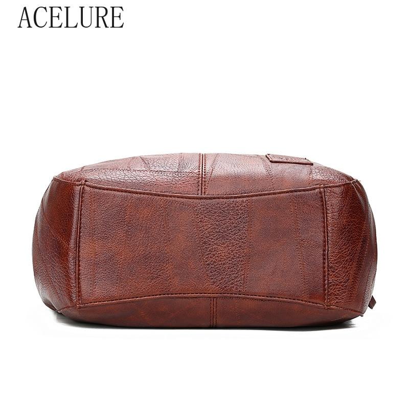 ACELURE  High Capcaity Soft PU Leather Vintage Women Hand Bag Totes Designers Luxury Women Shoulder Bags Female Top-handle Bags 4