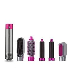 5 in 1 Hair Dryer Brush Professional Hair Curler Curly Iron Electric Hairdryer Hair Straightener Brush Multifunction Curler