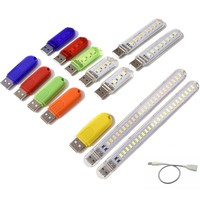 LED USB Nachtlicht Tragbare U Disk Lampe 3/8/24leds Lesen Lampen Bunte Mini Buch Lichter DC5V Power Bank Betriebene Camping Lampe