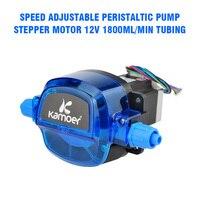 Stepper Motor Speed Adjustable Peristaltic Pump Stepper Motor 12V 1800ml/min Tubing 35# Electrical Equipment Supplies Accessorie