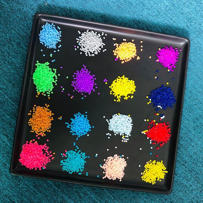 DOLLRYGA 2.6mm Mini Hama Beads 1000/Pcs Bag 72 Colors Perler Available 100% Quality Guarantee Beads Activity Aqua Fuse Beads