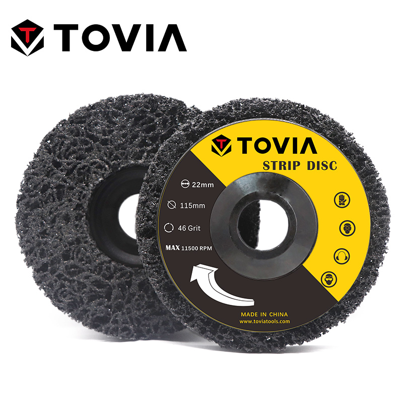 TOVIA 2PCS Abrasive Tools Poly Strip Disc Grinder Wheel Paint Rust Removal Clean Grit Grinding Disc Wheel For Angle Grinder
