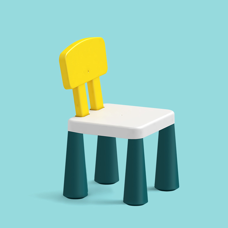 Kindergarten Chair Children's Back Plastic Chairs Home Learning Block Table Matching Chair Stools Chair For Kids Furniture
