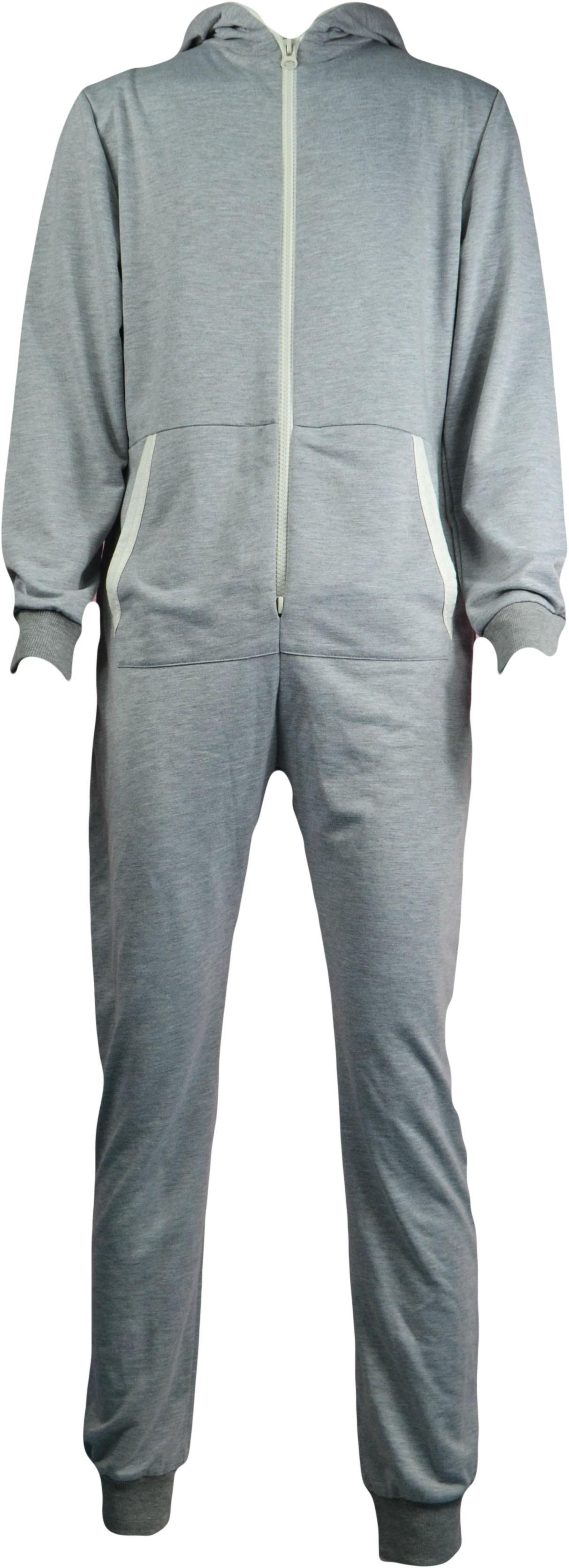 New Unisex Womens Mens Tracksuit Hood Jumpsuit Pyjamas Playsuit Sleep One peice