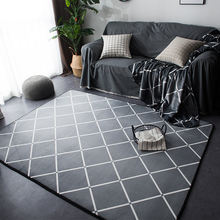 Современный серый простой ковер для гостиной дивана большой