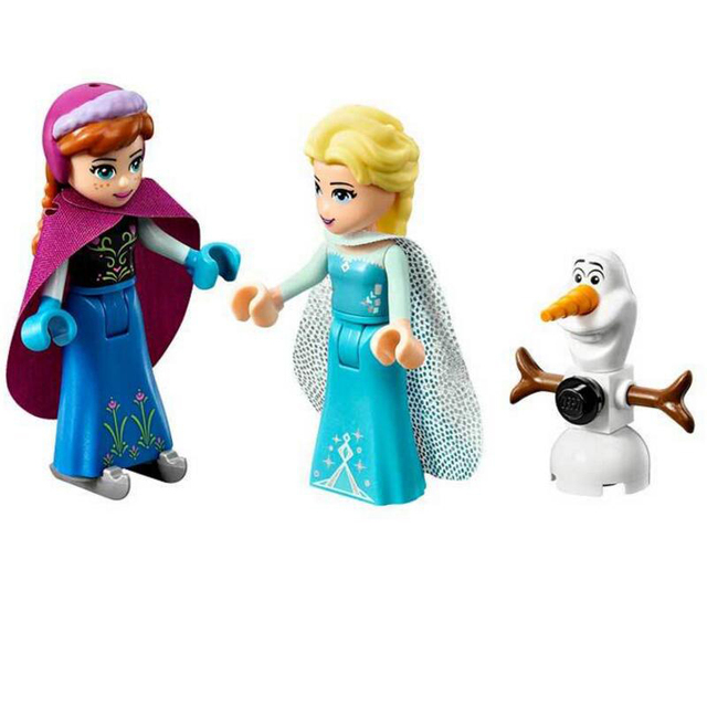 316pcs Dream Princess Castle Elsa Ice Castle Princess Anna Set Model Building Blocks Gifts Toys Compatible Legoinglys Friends 4