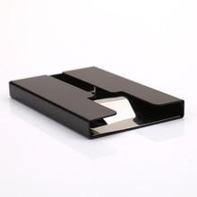 лучшая цена 2019 New Aluminum alloy Credit Card Holder Slim Thin Bank Credit Card Package Business Card Holder Mini Card Case Box