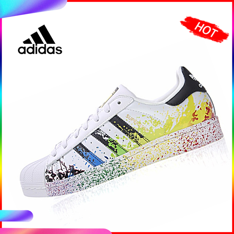 Original Authentic <font><b>Adidas</b></font> 917 Series Clover <font><b>Superstar</b></font> Gold Label Men / Women Skateboarding Shoes Sneakers Leisure Outdoor D70351 image