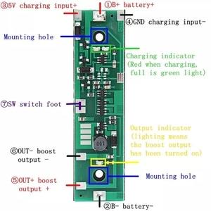 Image 5 - 5V/6V/9V/12V UPS Uninterruptedป้องกันแบบบูรณาการBoard 18650แบตเตอรี่ลิเธียมboostโมดูลเดียวDUALแบตเตอรี่Hold