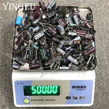 500 gramo/lote mixto condensador electrolítico venta para amantes de DIY reparación de componentes electrónicos paquete leer antes de la orden