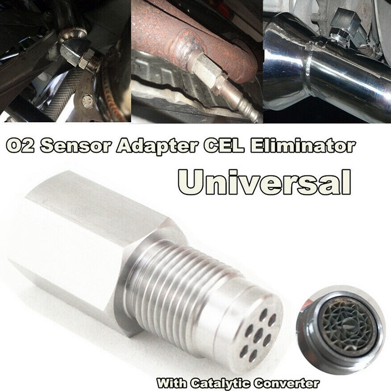 Oxygen O2 Sensor Spacer Adapter Bung Catalytic Converter Fix Check Engine Light O2 Oxygen Sensor