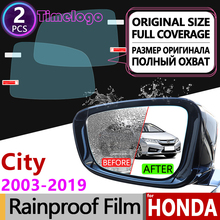 For Honda City 2003~2019 Full Cover Anti Fog Film Rearview Mirror Accessories Stickers GD8 GD9 GM2 GM3 GM6 2005 2008 2015 2018