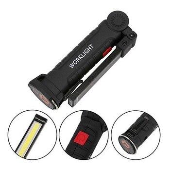 USB зарядное устройство 180 градусов вращение портативный COB светодиодный рабочий свет магнит флэш-светильник Крюк Складной флэш-светильник ч...