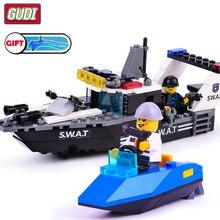 GuDi Compatible legoingly SWAT Police Station Armored Vehicles Blocks building boys children Toys figures truck car bricks motor цена