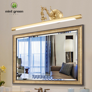 American Copper Mirror Front Lights for Bathroom Toilet LED Cabinet Lamp Makeup Hanging Lamp Home Deco Wall Sconce Light Fixture