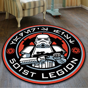 Cartoon Star Wars Velboa Doormat Round Floor Rug Carpet Living Room Bedroom Doormat Non-slip Chair Mat(China)
