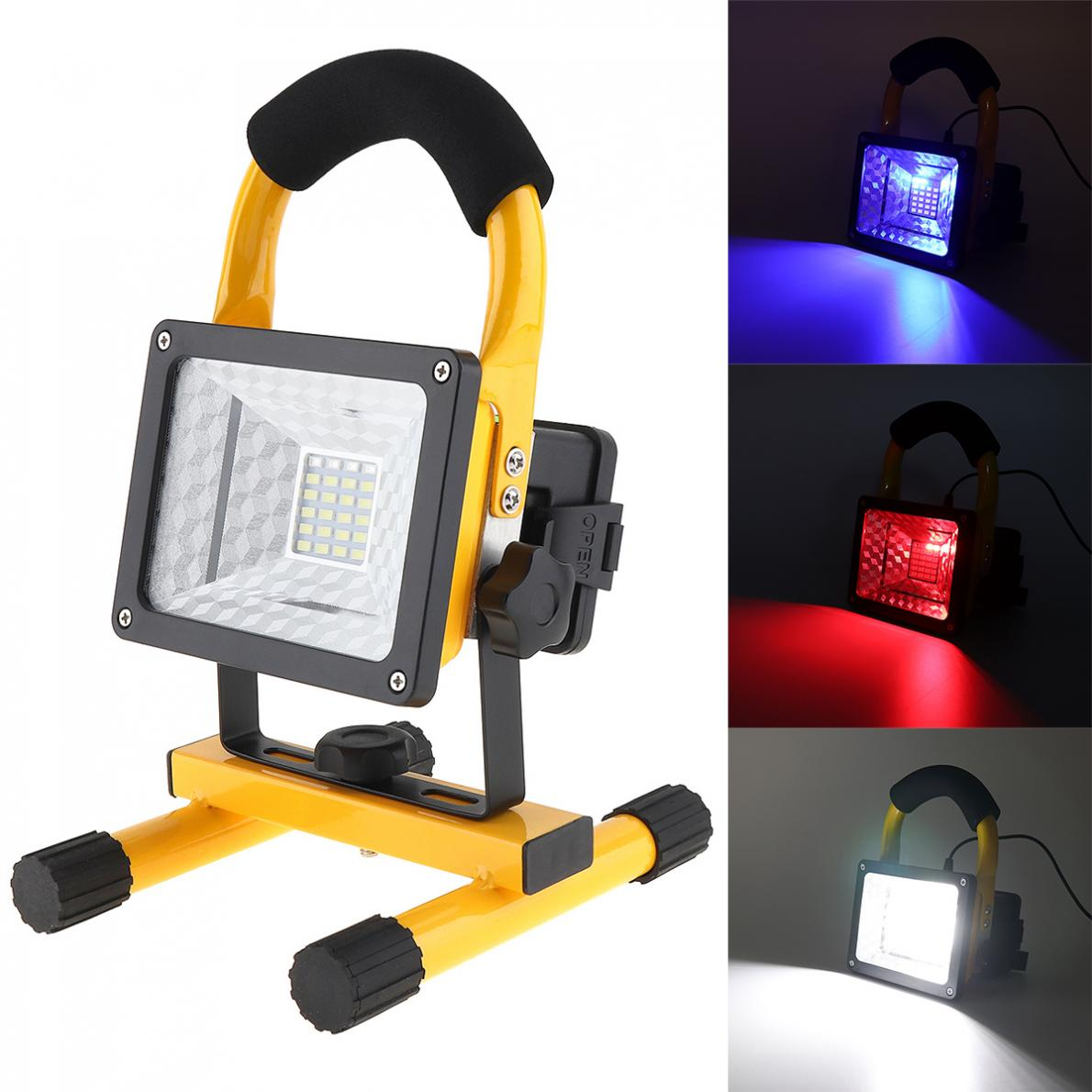 20//30W Rechargeable Flood Light Portable LED Work Site Light Camping /& car