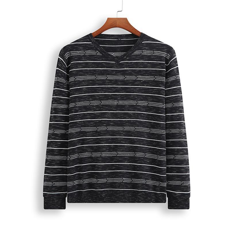 Spring And Autumn  New Plus Size 8XL 7XL 6XL 5XL Brand Mens Sweaters New V-Neck Pullovers Patchwork Pattern Sweaters Men