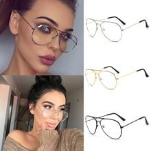 Aviation Metal Frame Sunglasses Round Vintage Glasses Transp