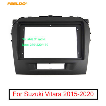 FEELDO Car Radio Audio 9 Big Screen 2DIN Fascia Frame Adapter For Suzuki Vitara DVD Player Dash Fitting Panel Frame Kit image