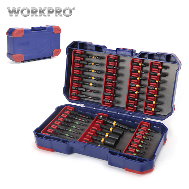 WORKPRO Screwdriver Bits For Electric Screwdriver 47 In 1 Slotted/Phillips/Torx/Pozidriv Bits Nut Driver Set Impact Tough Bits