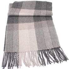 Plaid En Laine 2021 Highly Selected 100% Wool Grey Plaid Scarves,Warm Winter Man Scarf Pattern Comfortable Wool Men Scarves