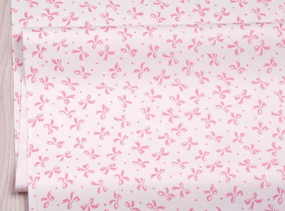 Lazos a rayas de flores rosas, tela para manualidades de sarga de algodón, costura para Patchwork de bebés y niños, ropa de cama textil hecha a mano, sábanas