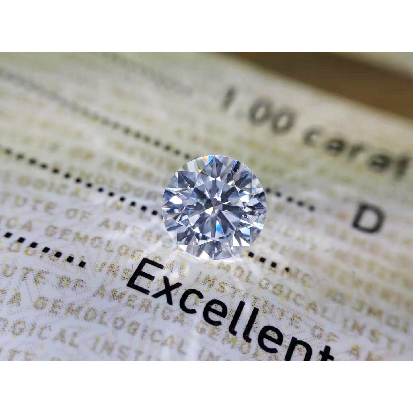 1ct Carat 6.5mm D Color loose moissanite Round Brilliant Cut Lab Grown Diamond Loose Stone VVS1 Excellent Cut