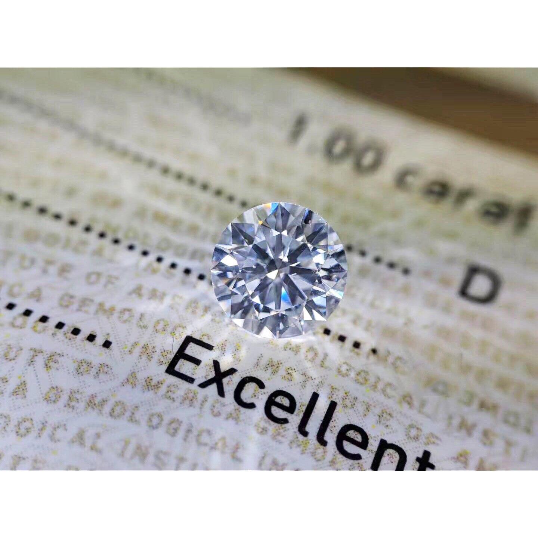 1ct Carat 6.5mm D Color loose moissanite Round Brilliant Cut Lab Grown Diamond Loose Stone VVS1 Excellent Cut
