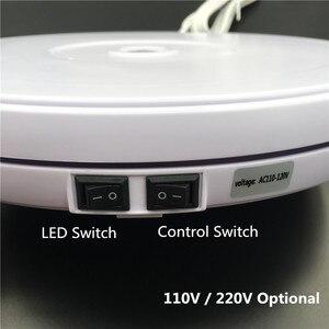 "Image 3 - 10"" 25cm Led Light 360 Degree Electric Rotating Turntable for Photography, Max Load 10kg 220V  110V"