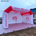 affordable 6x4x3.3m popular advertising inflatable tunnel tent with 4 legs with 3 sides print logo walls