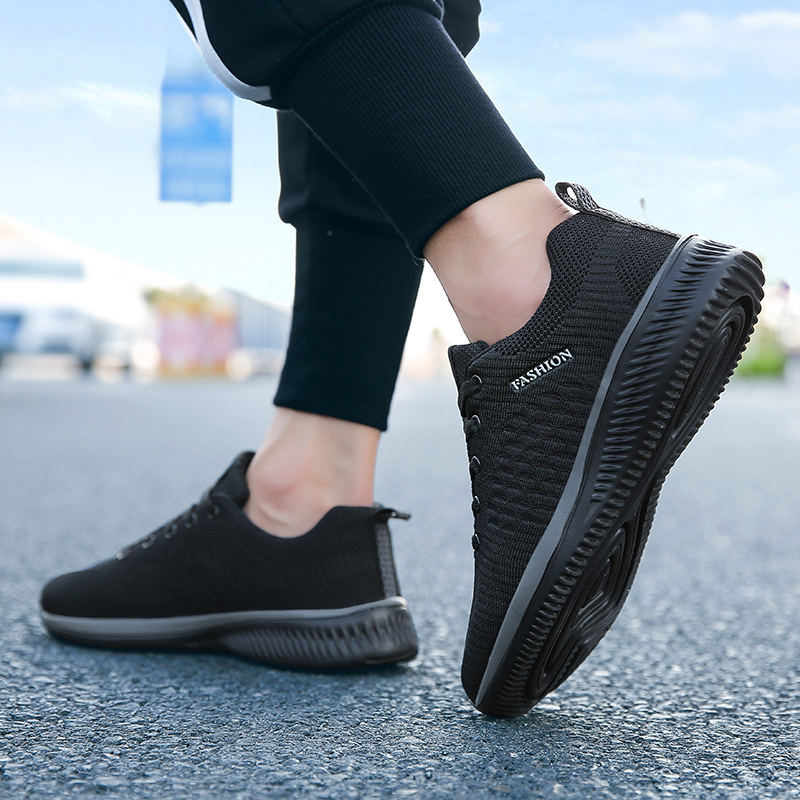 New Style Lace Up Male Sneakers Casual Breathable Mens Mesh Shoes Popular No-slip Men Shoes Tenis Masculino Zapatillas Hombre 66 4