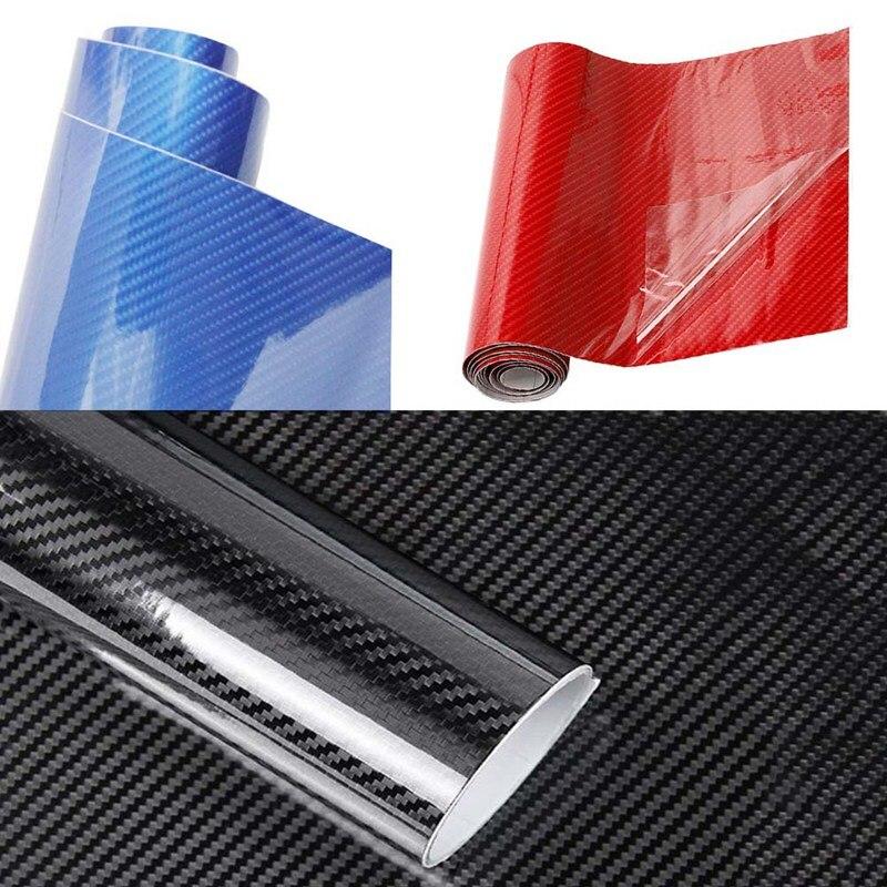 152*30 см Виниловая пленка из углеродного волокна, наклейки для автомобиля, водостойкая пленка для стайлинга автомобиля, аксессуары для