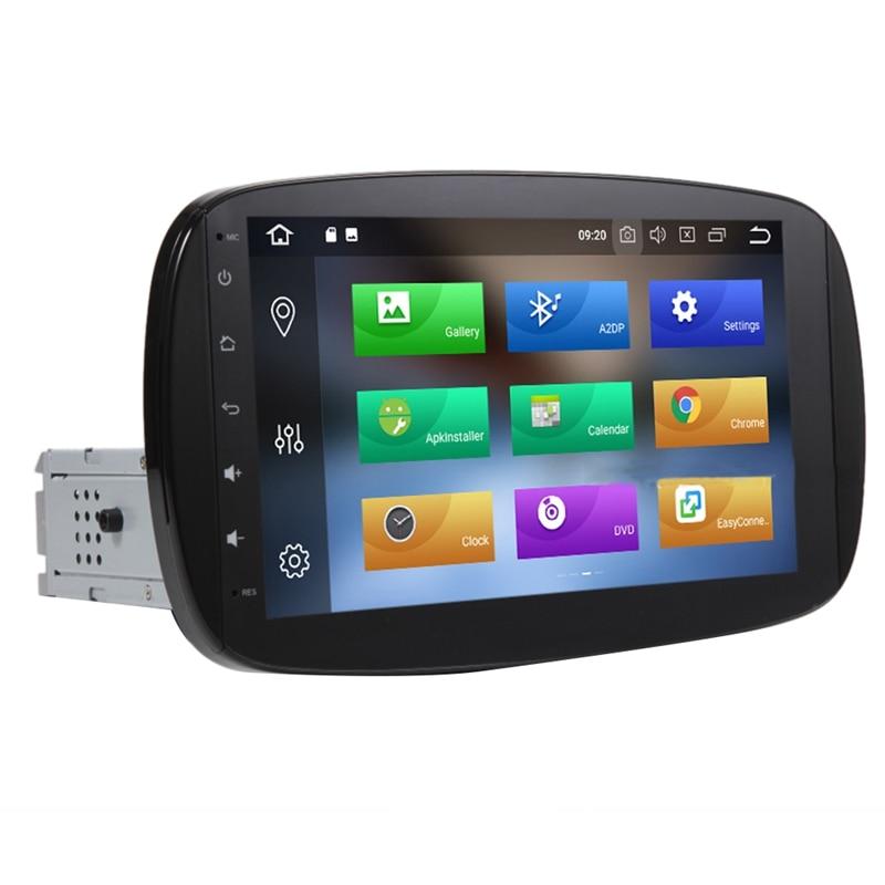 Android 8,1 2 + 32G sistema de navegación GPS de coche estéreo Media Auto reproductor de Radio para Mercedes-Benz Smart 2015-2018 Aspirador de robot LIECTROUX B6009,3KPa Succión, Mapa de navegación, con Memoria, Aplicación WiFi, Tanque de Agua, Motor sin Escobillas, Bloqueador Virtual