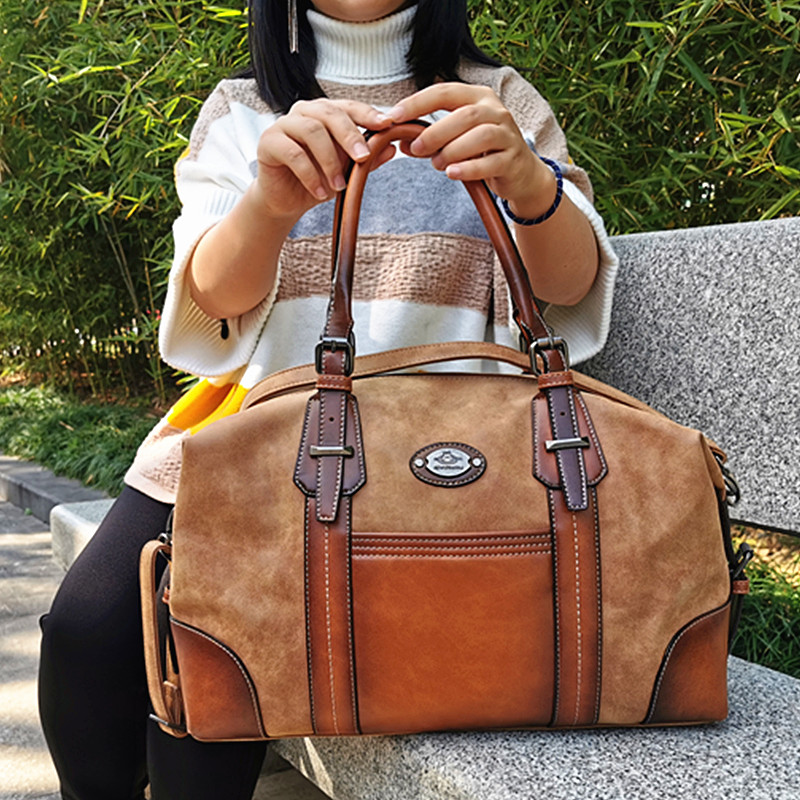IMYOK Vintage Genuine Leather Luxury Women Bags Brand Designer Handbag Laides Large Capacity Tote Shoulder Bags Bolsa Feminina