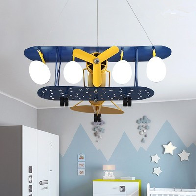 Cartoon LED Pendant Lights For Bedroom Boys Hanging Lamp Kids Pendant Lamps Airplane HangLamp Children Lighting Fixtures