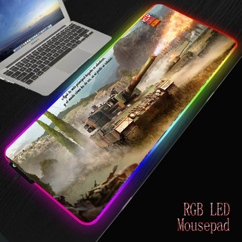 цена на MRGBEST World of Tanks Mouse Pad Extra Large Gaming Mouse Pad  with Locking Edge Mousepad Keyboard Pad Desk Pad For Laptop Mouse