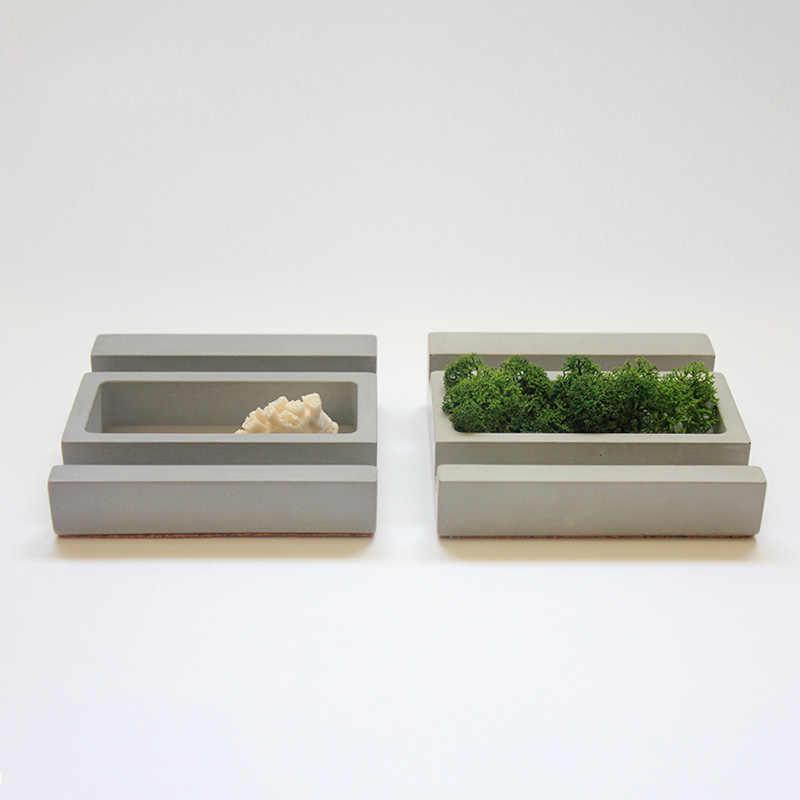 Business card phone concrete holder mold concrete decoration ornaments silicone Succulent plants pot mold