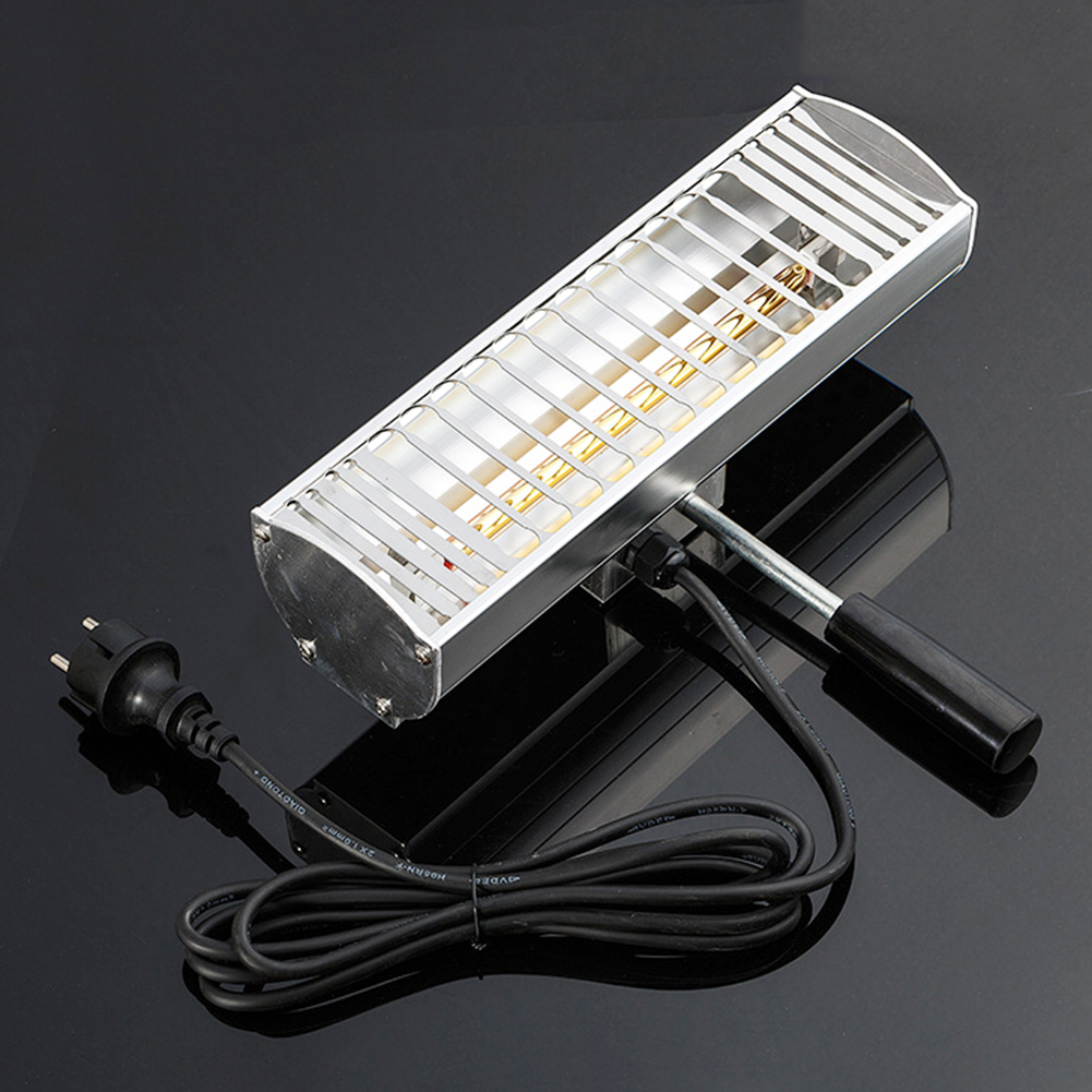 1000W Auto Paint Curing Lamp Handheld Baking Spray Car Body Portable Light Wave Repair Infrared Heating Solar Film Exhaust
