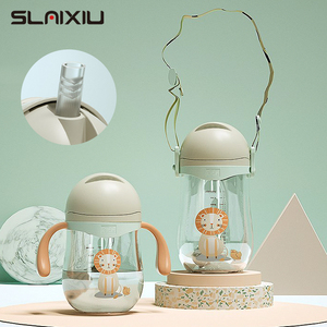 Baby Drinking Cup Sippy Cup Gravity Ball Drinking Water Handle Feeding Cup Handle&Sling Learning Drinking BPA free(China)