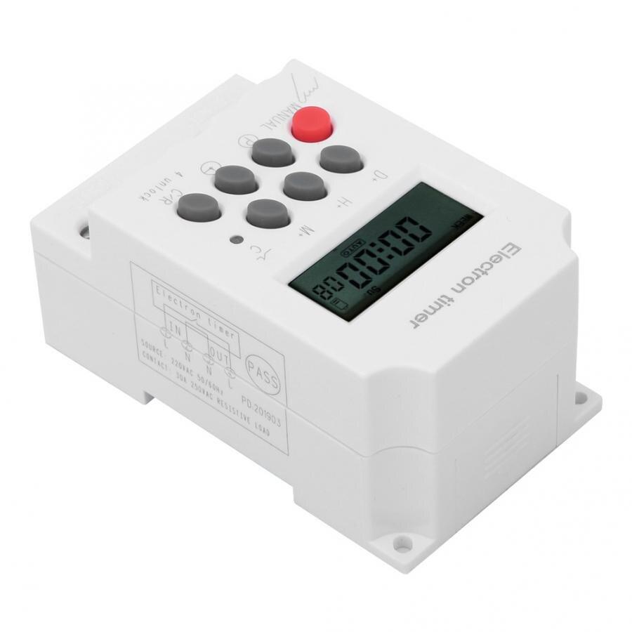 Interruttore Timer Elettronico KG316T-III 220 V CA 30 A Microcomputer Intelligente con Timer Incorporato Batteria Incorporata