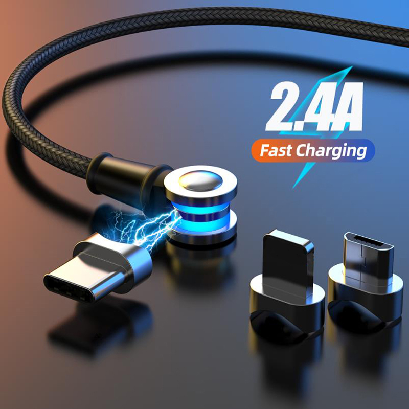 Rotate Magnetic Micro USB Fast Charging Cable Type C Cable For Huawei Xiaomi Samsung Magnet Quick Charger Micro USB Cable
