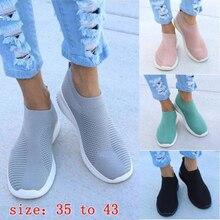 Women Shoes Sneakers Flyknit Slip On Casual