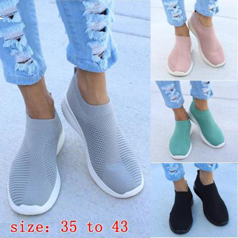 Women Shoes Sneakers Flyknit Slip On Casual Shoes Woman Vulcanize Shoes Female Breableable Trainers Women Sneakers Footwear