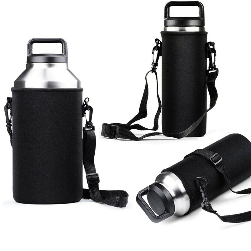 Portable Concise Sport Water Bottle Cover Black Accessories For Travel