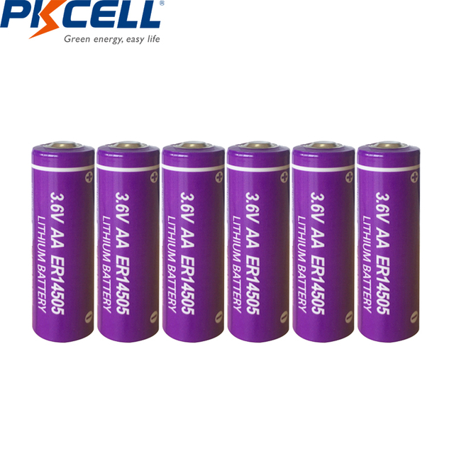 6 LiSCLO2 ER14505 pçs/lote PKCELL 3.6V 14505 2400mah AA Bateria Superior LR6 R6P 1.5V Baterias Para Câmeras de Rastreamento GPS